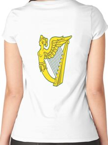 IRISH HARP IRELAND GREEN GOLD Women's Fitted Scoop T-Shirt