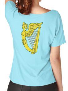 IRISH HARP IRELAND GREEN GOLD Women's Relaxed Fit T-Shirt