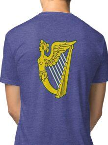 IRISH HARP IRELAND GREEN GOLD Tri-blend T-Shirt