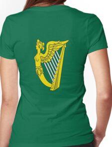 IRISH HARP IRELAND GREEN GOLD Womens Fitted T-Shirt