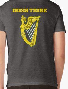 IRISH TRIBE IRELAND HARP Mens V-Neck T-Shirt