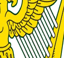 IRISH TRIBE IRELAND HARP Sticker