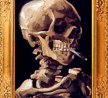 Skull with a Burning Cigarette by Vincent van Gogh by ColorPalette