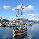 Lady Nelson returning to Dock, Hobart by Helen Greenwood