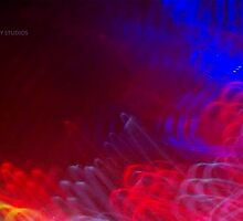 The Light Is The Art 10: Crop 03 (Light Painting, Ryleigh's Series B) by Keith Miller