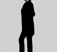 Abraham Lincoln Silhouette by warishellstore