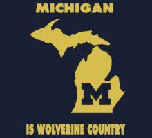 NCAA Michigan Country Shirt by Plataduc