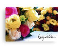 Wedding blooms Canvas Print