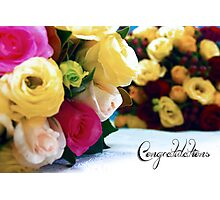 Wedding blooms Photographic Print