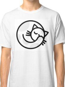 Sleeping white grey cat Classic T-Shirt