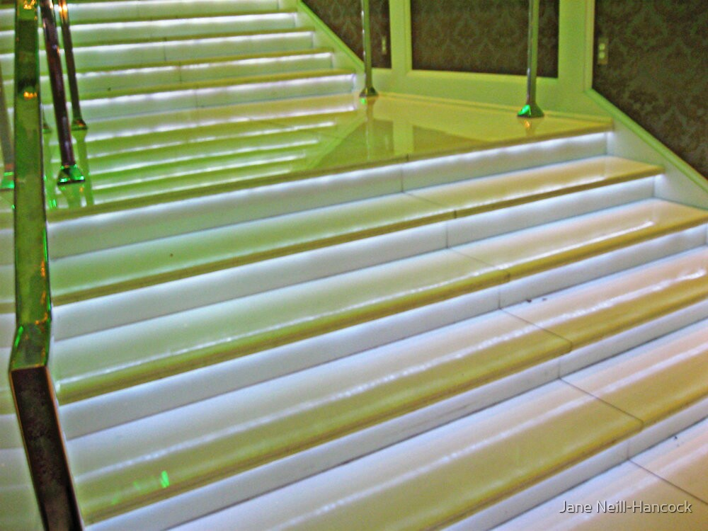 Glowing Stairs by Jane Neill-Hancock