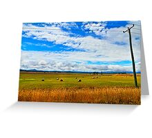 Farmland Parramatta Creek Tasmania Greeting Card