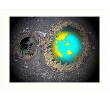 Relecting on our world Art Print