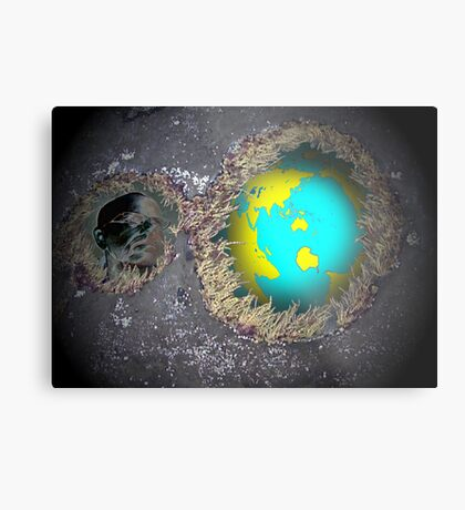 Relecting on our world Metal Print