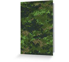 Digital Green Camouflage Greeting Card