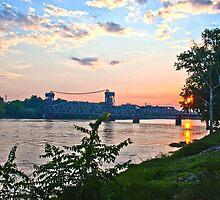 Sunset Over Baring Cross Bridge by Lisa G. Putman