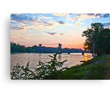 Sunset Over Baring Cross Bridge Canvas Print