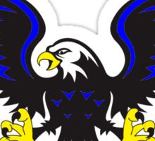 Black and Blue Eagle Sticker