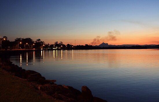 Twilight at Chinderah .. by gail woodbury