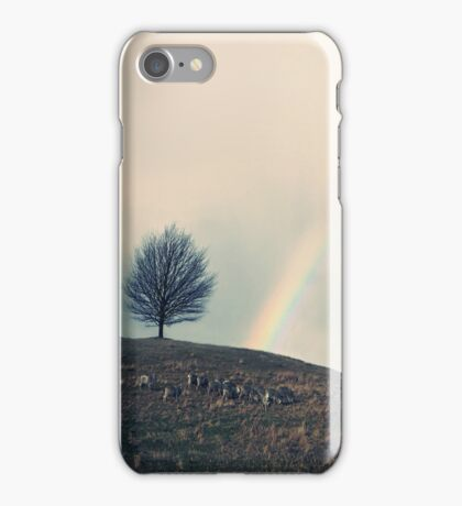Chasing rainbows and counting sheep. Same thing really. iPhone Case/Skin