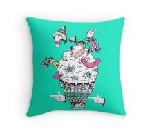 Monster Ice Cream  Throw Pillow