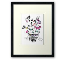 Monster Ice Cream  Framed Print