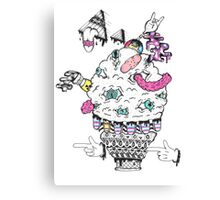 Monster Ice Cream  Canvas Print