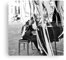 Pianist & Cyclist Canvas Print