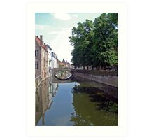 Bruges Canal Art Print