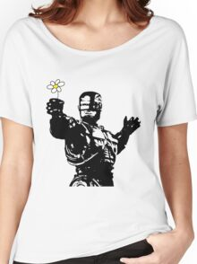 """Robocop """"likes flowers"""" Women's Relaxed Fit T-Shirt"""