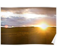 Northumberland Sunset Poster
