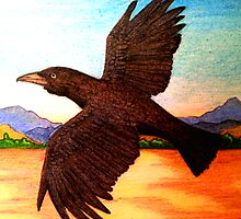 'Waruu' Crow by Sally Murray
