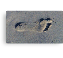 Footprint in the Sand Canvas Print