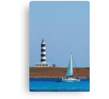 Lighthouse & Boat, Menorca Canvas Print