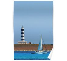Lighthouse & Boat, Menorca Poster