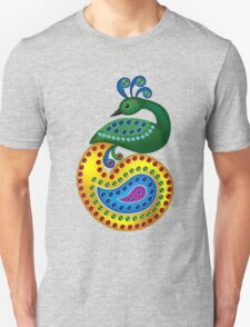 Beautiful and Colorful Peacock T-Shirt