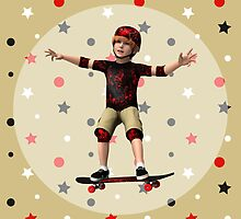 Skateboarder by Vac1