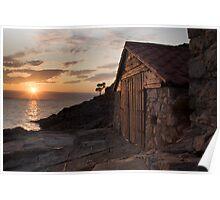 Cunski coastline at sunrise, Losinj Island, Croatia Poster