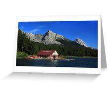 Maligne Lake Boathouse 2 Greeting Card