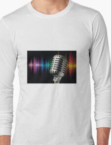 Retro Microphone Long Sleeve T-Shirt