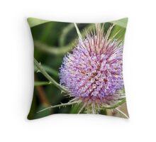 Purple Teasel Throw Pillow