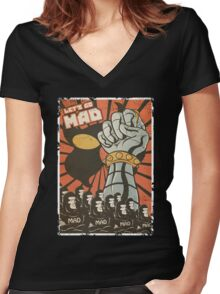 Lets Go Mad Women's Fitted V-Neck T-Shirt