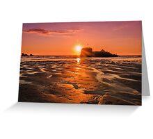 Cornish Sunset Greeting Card