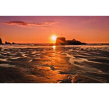 Cornish Sunset Photographic Print