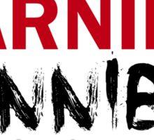WARNING CANNIBAL T SHIRT Sticker