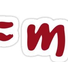 E = mc 2 einstein T shirts Sticker