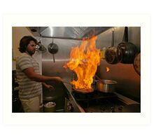 Omar Allibhoy creates a flame dish Art Print