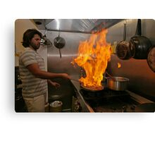 Omar Allibhoy creates a flame dish Canvas Print