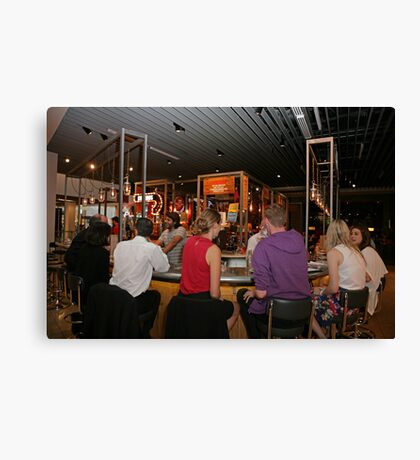 Tapas Revolution in Bluewater Canvas Print