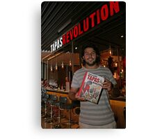 Omar Allibhoy promotes his new book Tapas Revolution Canvas Print